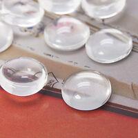 20 GLAS CABOCHON Klare Schmuck Rund 25 mm Basteln Super Optik A Grade BEST R205