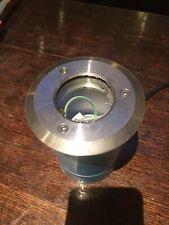 LED A INCASSO Decking LUCE ACCIAIO INOX LUCIDO 15mm BLU BIANCO TONDO QUADRATO