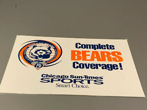 Genuine Chicago Sun-Times Chicago Bears 75th Anniversary 1994 Sign 15 3/4 x 11