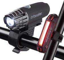 Cycleafer® Bike Lights Set, USB Rechargeable Cycling light, 3 YEAR WARRANTY, LED