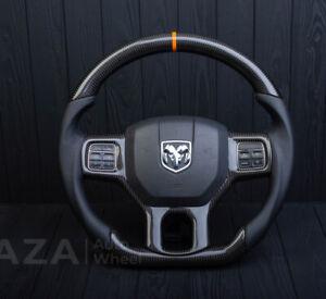 Dodge Ram 1500 2500 3500 Custom steering Wheel flat Bottom 2010-2018