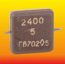 2400pF 500V 5% LOT OF 15 RUSSIAN MILITARY SILVER-MICA CAPACITORS KSOT-5G КСОТ-5Г