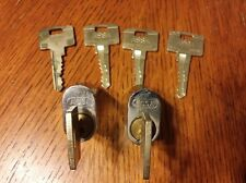 2 ASSA oval lock cylinders Twin 6000 Locksmith Lockpicking Locksport W/Keys (6)