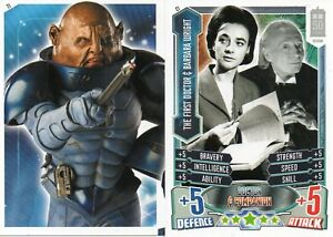 DOCTOR WHO ALIEN ATTAX 50th ANNIVERSARY Companion Boost & Puzzle Cards