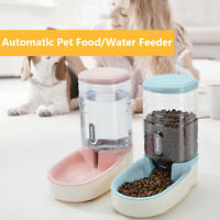 Automatic Puppy Drinking Bowl Dog Cat Food Water Dispenser Pet Feeder Bottle
