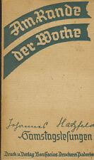Johannes Hatzfeld, samstagslesungen, al margen de la semana, sábado-lectura, PB 1936