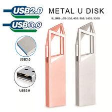 USB 2.0/3.0 8GB 16GB 32GB 64GB Metal Flash Drive Stick Backup Pen Disk
