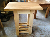 HANDMADE SOLID PINE KITCHEN ISLAND / BREAKFAST BAR with SOLID OAK WORKTOP