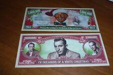 BING CROSBY WHITE CHRISTMAS NOVELTY 1 MILLION DOLLAR BANK NOTE