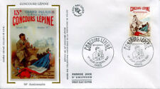 FRANCE FDC - 2694 1 CONCOURS LEPINE - 27 Avril 1991 - LUXE sur soie