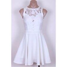 Vestido de Encaje Blanco Talla 8-Nuevo con etiquetas