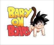 Baby On Board Goku Window Bumper Car Sticker Vinyl Decal LOL JDM Anime