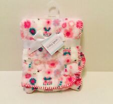 "New Baby Gear Floral Baby Plush Blanket 30"" x 36"""