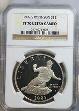 1997-S JACKIE ROBINSON Silver Dollar PF70 NGC 💥FLAWLESS QUALITY!💥