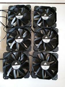 6 fans new Corsair 120mm  Case Fan 12V DC , 4-Pin 0.30A 31-006456
