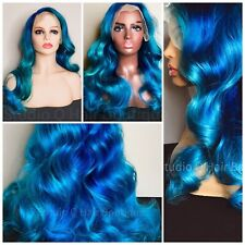 Blue Human Hair Lace Front Wig