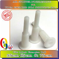 AIR STOPPER Valve Nozzle Pin White AIr STOPPER Plug Fits 55cm,65cm &75cm Gymball