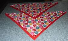 New listing Two Brand New Conversation Hearts Design Dog Bandanas For Dog Rescue Charity