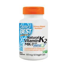 Vitamin K-2, Menaq7, 100mcg x 60 Veg Capsules - Doctors Best