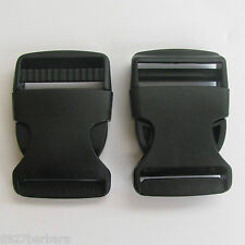 2 x 38mm Plastic Side Quick Release Clasp Buckles Webbing Strapping Bag Making