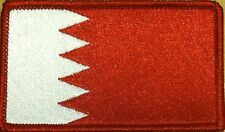 BAHRAIN Flag Military Patch With VELCRO® Brand Fastener Red Border #56