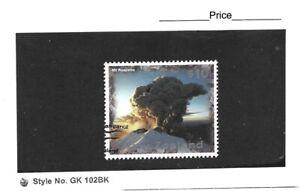 New Zealand 1997 Large Definitive $10 Mt Ruapheu in Eruption Single CTO