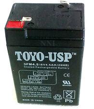 6V 4.5Ah Sealed Lead Acid Emergency Light Rechargeable Battery TOYO- 3FM4.5