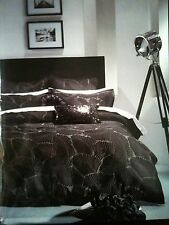 HOTEL ROYALE MARMONT BLACK QUEEN QUILT COVER/DOONA SET~NEW RRP $350~PICK-UP/POST