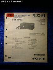 Sony Service Manual MDX 61 (#0736)