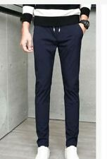 MEN'S REGULAR CASUAL PANTS - NAVY BLUE