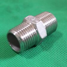 "1/4"" Male to 1/4"" Male Hex Nipple Stainless Steel 304 Threaded Pipe Fitting NPT"