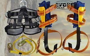 Evoke Gear Tree Climbing Spike Set + Tree and Pole Graff with harness Synthetic