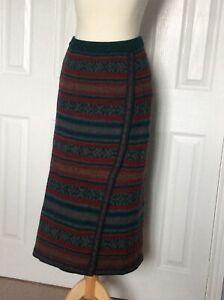 vintage FIRST AVENUE lambswool midi skirt size 14-16