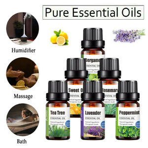 10ml Aromatherapy Essential Oils 100%Natural Pure Organic Fragrances Therapeutic