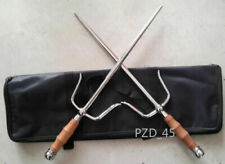 Chinese Martial Arts Kung Fu Weapons:A Pair of Stainless Steel Double-fork