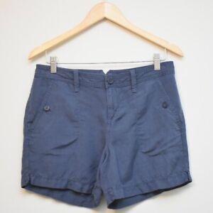 CALVIN KLEIN Blue Linen Blend Chino Shorts Women's Size 4