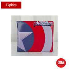 Boys Girls Kids Teenage Biofold PU Leather Wallet -- Captain America Shield