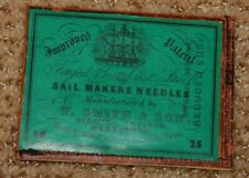 Vintage W Smith & Sons Sailmakers No. 16 Sewing Needles - 20 in Orig. Envelope
