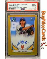 2014 Joe McNeil Bowman Chrome Gold Refractor RC Rookie Auto /50 PSA 9 Mint