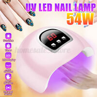 54W UV LED gels Nail Salon Lamp Light Polish Dryer Manicure Timer Painless USB