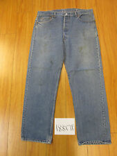 levi 501 feather destroyed USA grunge jean tag 42x34 meas 37x30 18817F