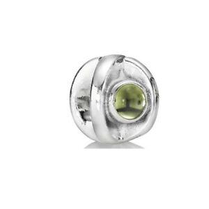 790127PE Pandora Genuine Sterling Silver Peridot Cabochon Eye Charm Retired RARE
