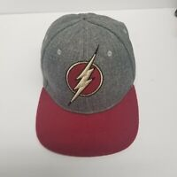 The Flash Snapback Adjustable Hat, Comic Collectible, Lightning Bolt Logo