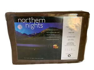 Northern Nights King Size Sheet Set Chocolate Brown 320 Thread Count QVC