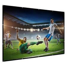 """Projection Screen 120"""" 16: 9 Portable and Foldable Wall Ceiling Mount Projector"""