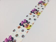 "1y Disney Minnie Mouse 7/8"" 22 mm cinta de grogrén, Pastel Craft arcos Disney #008"