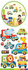 TRANSPORTATION animals 3D POP-UPS wall stickers 10 decals decor taxi car bus