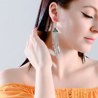 Hot Fashion Women Long Earring Tassels Metal Chain Leaf Dangle Bohemian Earrings