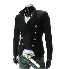 Mens Double-breasted Coat Jackets Military Outwear Party SZ Slim Fit Tops Formal