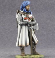 Tin Toy Soldiers 1/32 Medieval Knight Temlar Figure Hand Painted 54mm Miniatures